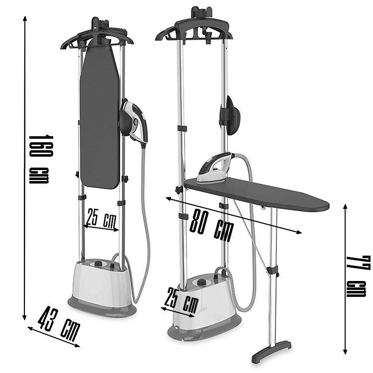 dimensions défroisseur G400EL avec table de repassage